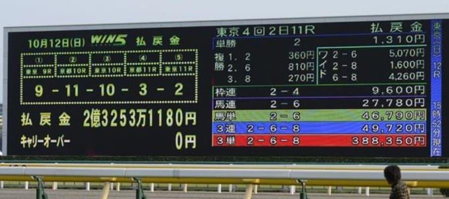 競馬 出目 統計
